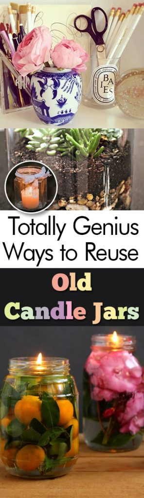 Totally Genius Ways to Reuse Old Candle Jars - My List of Lists| How to Reuse Old Candle Jars, Reusing Old Candle Jars, DIY Candle Projects, Reuse Old Candle Jars, What to Do With Old Candle Jars, Repurpose Projects, Easy Repurpose Projects