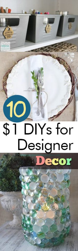 10 $1 DIYs for Designer Decor| Dollar Store Home Decor, DIY Dollar Store, Dollar Store Decor Hacks, Dollar Store DIY, Cheap Home Decor #DollarStore #DIYDollarStore #DIYHome #DIYHomeDecor #HomeDesign