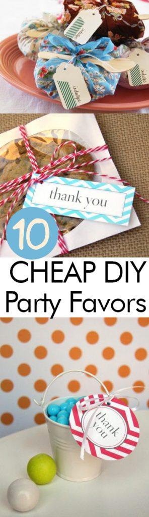 10 CHEAP DIY Party Favors| DIY Party Favors, Inexpensive Party Favors, Cheap Party Favors, DIY Party, Party Hacks, Party Favor Hacks, Popular Pin #PartyFavors #DIYPartyFavors #CheapPartyFavors #DIYParty