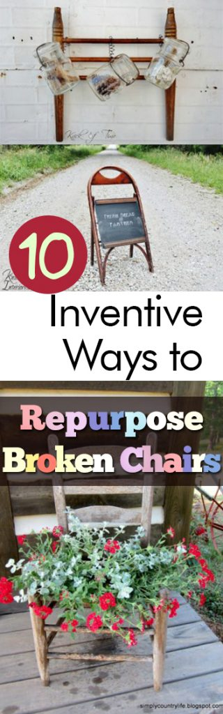 10 Inventive Ways to Repurpose Broken Chairs| DIY Home, Repurpose Projects, Repurpose Projects for the Home, Home Projects, Things to Do With Broken Chairs, DIY Home Decor, Interior Design, Thrifty Design, #CheapHomeDecor #DIYHomeDecor #Home #HomeDecor