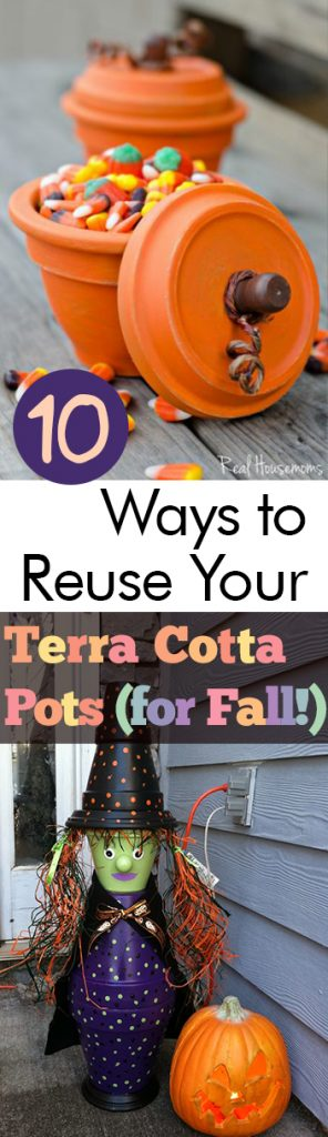 10 Ways to Reuse Your Terra Cotta Pots (for Fall!) | Terra Cotta Pot Crafts, Fall Crafts, Fall Home Decor, DIY Fall Decor, Crafts, Crafts for The Home, Holiday Home Decor, Fall Home #FallHomeDecor #DIYHome #EasyDIYHome