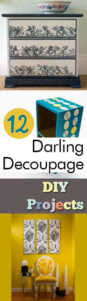 12 Darling Decoupage DIY Projects| DIY Crafts, Easy Crafts, Mod Podge Crafts, Easy Mod Podge Crafts, #ModPodgeCrafts #Crafts #EasyCrafts