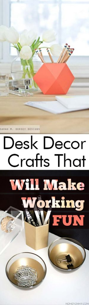 Desk Decor Crafts That Will Making Working FUN - My List of Lists| Desk Decor, Desk Ideas, Desk Organization, Desk Organization, Desk Decor Crafts, Desk Decor DIYs, Desk Decor Office, DIY Desk Decor, DIY Office Decor, Popular Pin