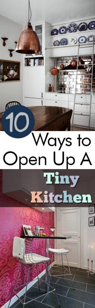 10 Ways to Open Up A Tiny Kitchen| Tiny Kitchen, Kitchen Upgrades, Kitchen, Kitchen Decor, DIY Kitchen, Small Kitchen, Home Improvements, DIY Home Improvements, #Kitchen #DIYHome #DIYKitchen #KitchenImprovements