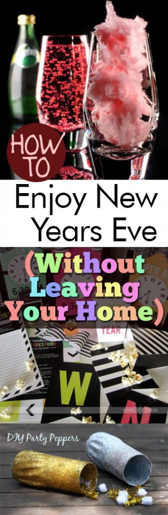 How to Enjoy New Years Eve (Without Leaving Your Home)| New Years Eve Party Ideas, New Years Eve Decor, Holiday Home Decor, Party Ideas, New Years Eve Party Ideas, NYE, NYE Home #NewYearsEve #PartyIdeas #HolidayHomeDecor