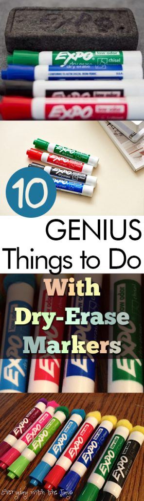 10 GENIUS Things to Do With Dry Erase Markers| Dry Erase, Dry Erase Marker Hacks, Uses for Dry Erase Markers, DIY, Crafts, Craft Hacks, Popular Pin #DryEraseMarkers #Crafts #HomeHacks