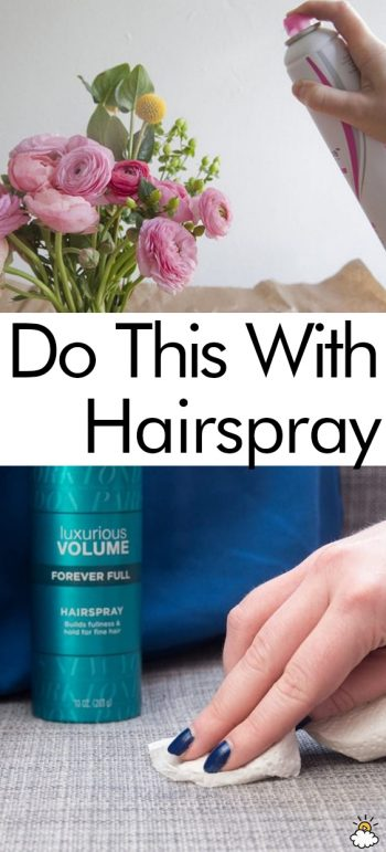Do This With Hairspray| Hairpsray, Using Hairspray, Tips and Tricks, Hairspray Hacks, DIY Hairspray, Hairspray Tips and Tricks, Hairspray 101, Popular Pin #Hairspray #HairsprayHacks