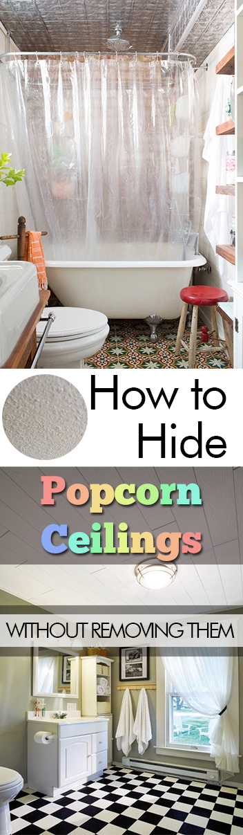 How to Hide Popcorn Ceilings Without Removing Them| Popcorn Ceilings, DIY Home, Home Improvement, Home Improvement Projects, Easy Home, Easy Home Improvements, DIY Home Stuff, Popular Pin #EasyHome #PopcornCeilings