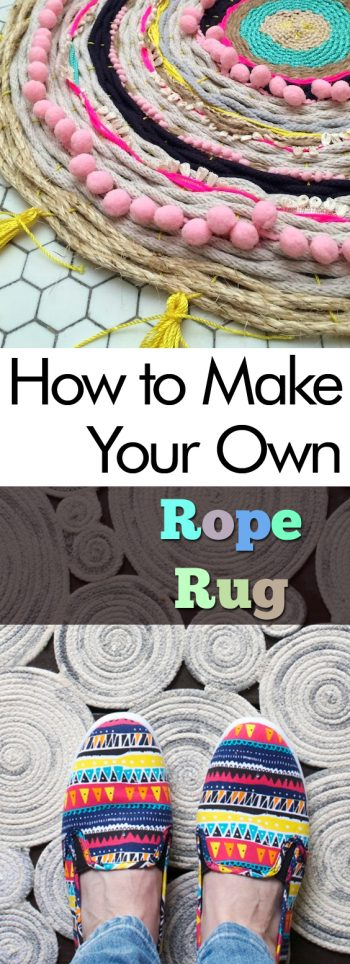 How to Make Your Own Rope Rug| Rope Rug, DIY Rope Rug, Easy Rope Projects, How to Make Your Own Rope Rug, Rope Rug DIY Projects, Repurpose Rope, How to Repurpose Rope, Popular Pin #RopeRug #DIY