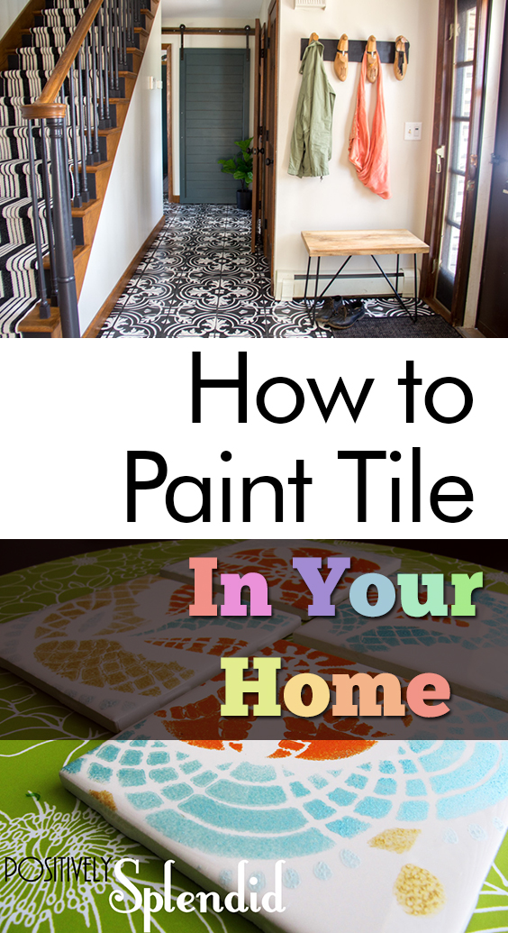 How to Paint Tile In Your Home| Painted Tile, How to Paint Tile, DIY Painted Tile, Home, Home Improvements, Home Improvement Hacks, How to Paint Your Tile, Popular Pin #HomeImprovements #PaintedTile #HowtoPaintTile