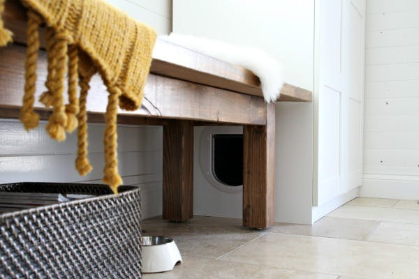 How to Hide Your Litter Box| Litter Box, DIY Litter Box, Litter Box Storage, Litter Box Storage Ideas, DIY Storage, Home Organization and Storage, Easy Home Organization, DIY Pet Organization, Popular Pin #StorageIdeas #LitterBoxStorage #Organization