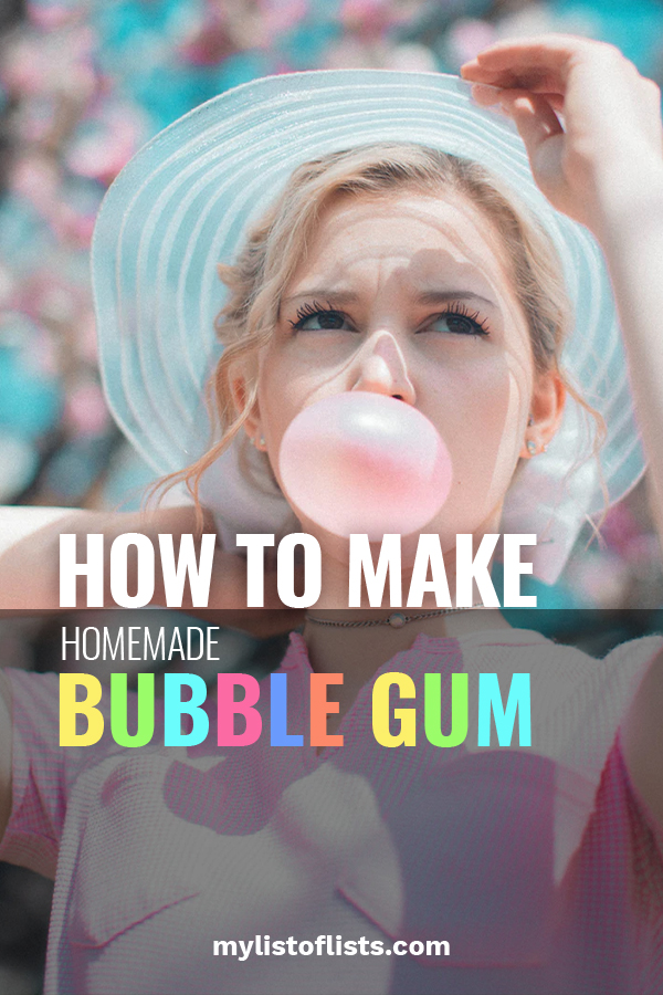 How To Make Homemade Bubble Gum My List Of Lists
