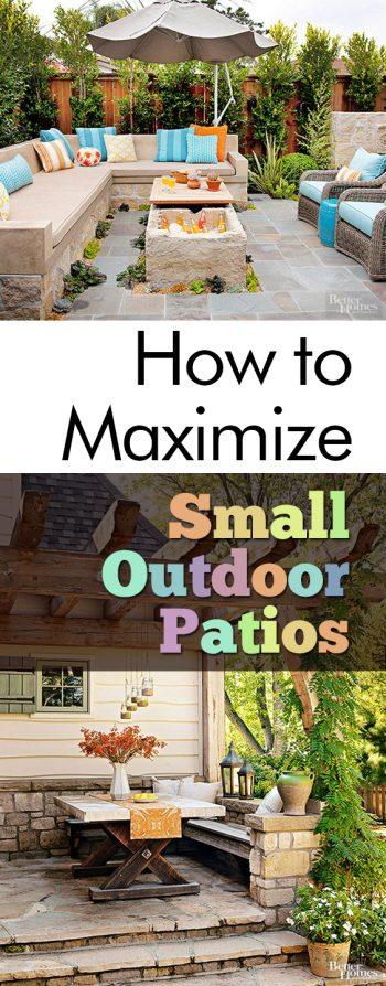 How To Maximize Small Outdoor Patios| Patio Ideas, Patio Decorating Ideas, Outdoor  Patio