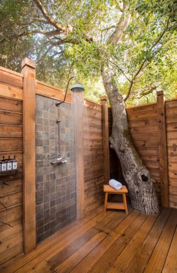 Get Squeaky Clean With A DIY Outdoor Shower| Outdoor DIY, DIY Outdoor Shower, Outdoor Shower DIY, Outdoor DIY, DIY Outdoor, DIY, DIY projects