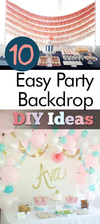 10 Easy Party Backdrop DIY Ideas| Party Backdrop Ideas, DIY Party Backdrop, Party Backdrop DIYs, Party Planning, Party Ideas, Party Planning Ideas