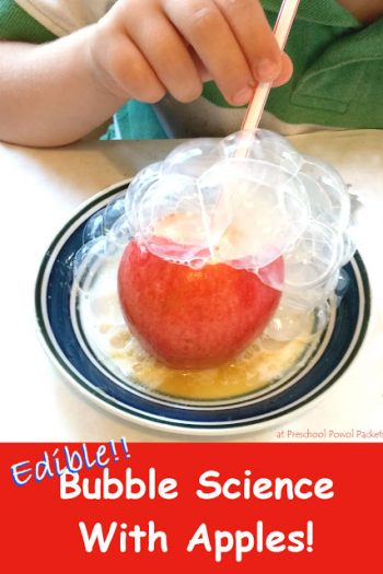 Edible Science Projects - Bubble Science With Apples