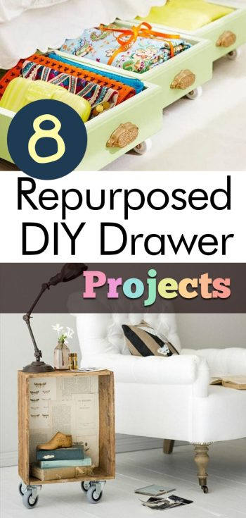 8 Repurposed DIY Drawer Projects, Repurposed Furniture, Repurposed Items, Repurposed Dresser, Drawers Repurposed, DIY, DIY Projects