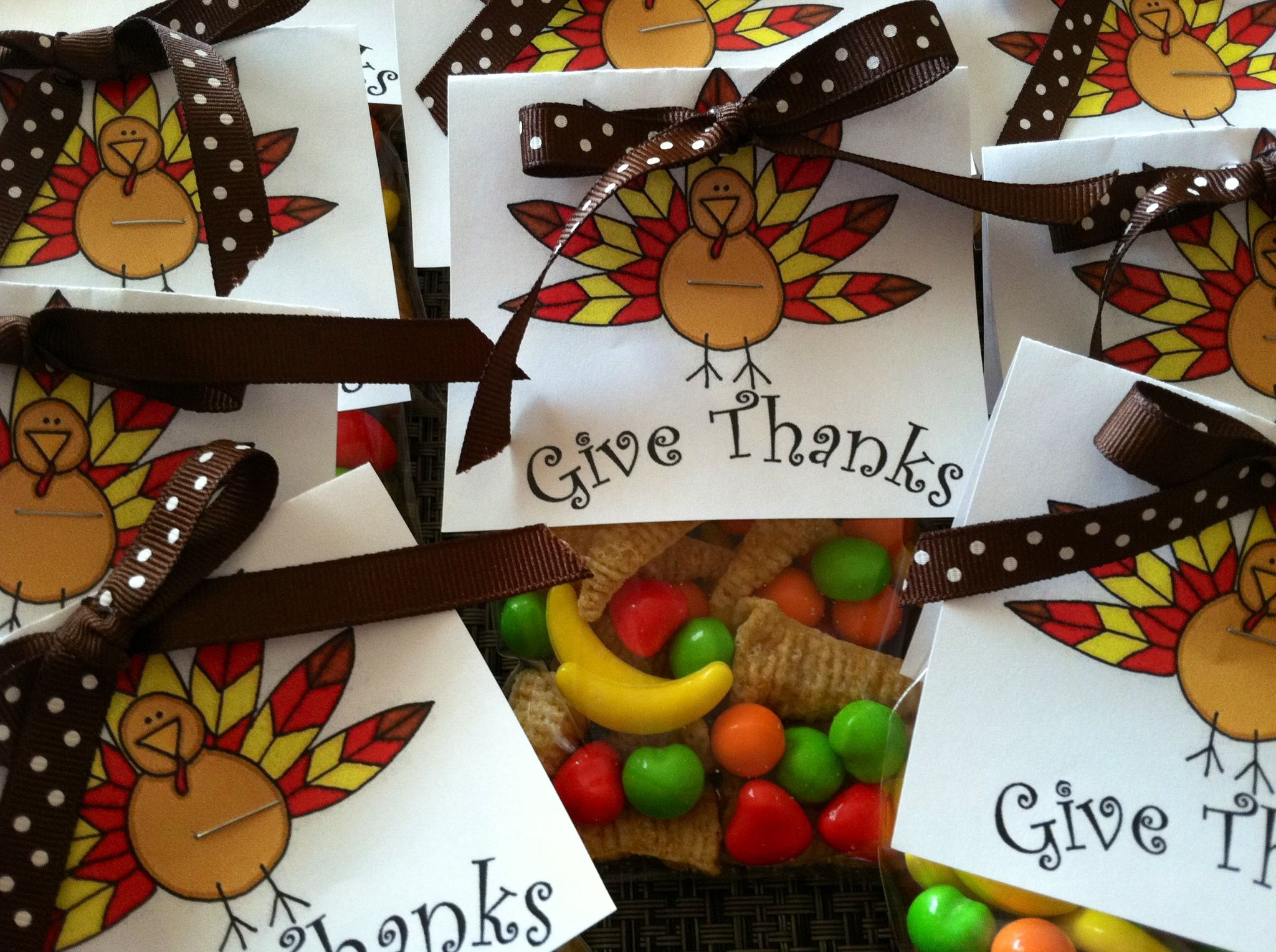 Thanksgiving treat bags are the perfect gifts for your guests this Thanksgiving. Here are some ideas for your guests, weather they're young or old.
