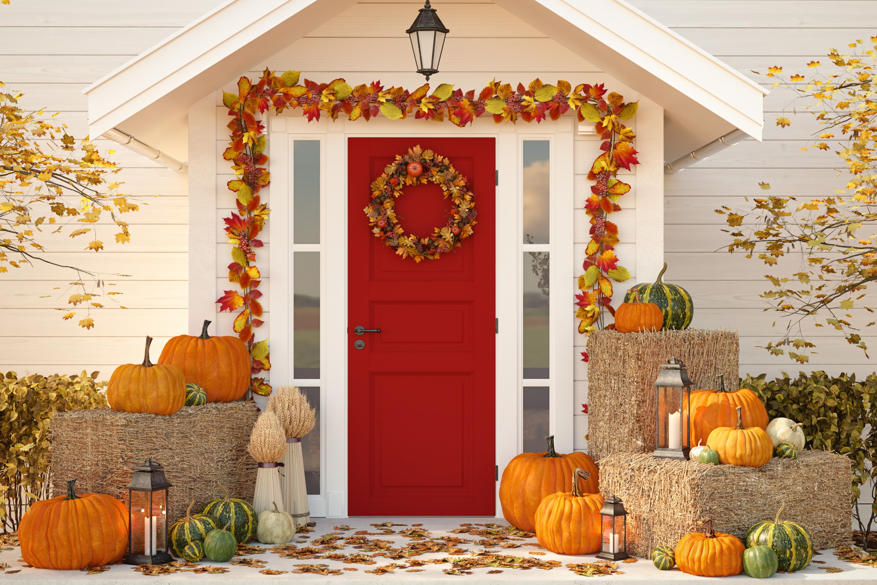 If you're in charge of the Thanksgiving festivities this year, you'll want your house to be perfect. Here are some amazing DIY Thanksgiving door garland to welcome your guests.