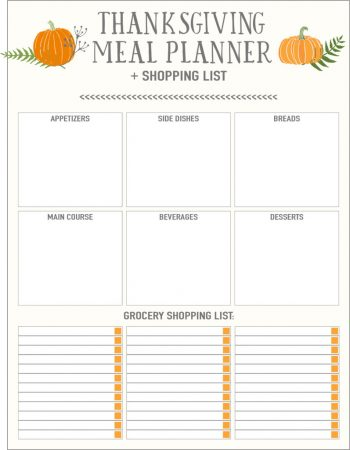 Planning your Thanksgiving dinner can be a lot to handle. This Thanksgiving shopping list will make your dinner go perfectly!