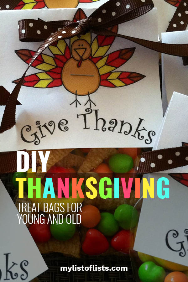 Show off how thankful you are with these adorable Thanksgiving treat bag ideas from My List Of List. These cute and easy ideas work for adults, kids, friends, and classmates. Discover how creative you can be with the fun designs that make everyone feel appreciated. #thanksgivingtreatbags #thanksgivinggiftideas