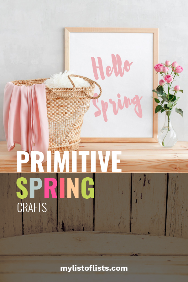 Today we are talking crafts. One of my all-time favorite things to do. If you love spring like I do, this post will have you so ecstatic. We are focusing on primitive spring crafts. Learn ways to make primitive eggs, bunnies, flowers and more. Make your home full of spring decor with crafts you made yourself. Don't forget to post pics of your crafts. #primitivecraftsideas #springcrafts #DIYcraftdecor