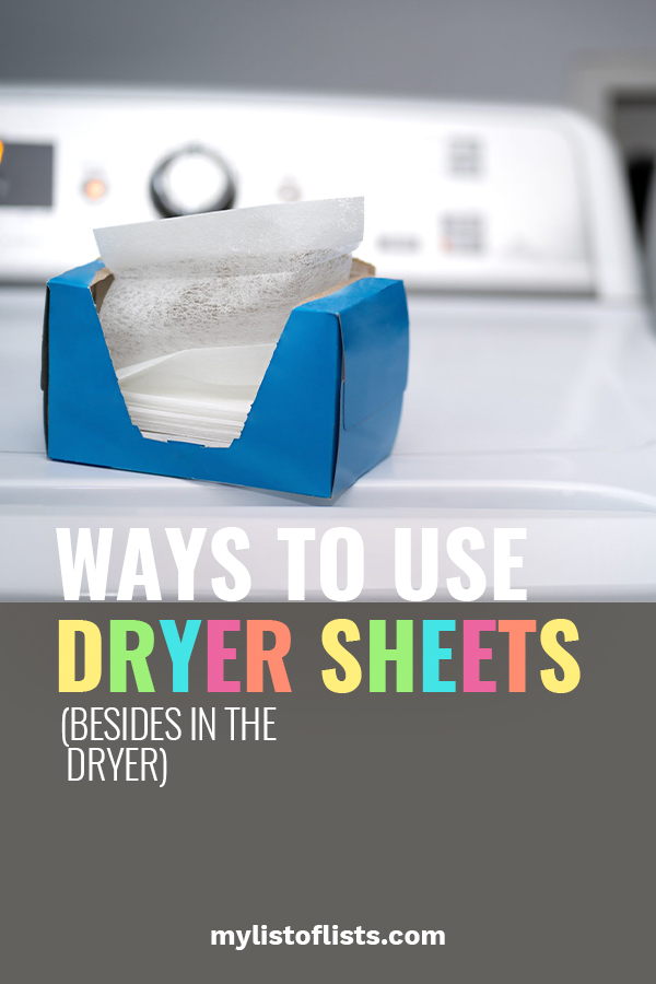 When you think of dryer sheets, you probably haven't thought of using them anywhere except the dryer. That's about to change STAT! Read on to learn ways to use dryer sheets around the house. Maybe you will use them in the kitchen, or the bath, or .... The possibilities are endless. #waystousedryersheets #usesfordryersheets #hacks
