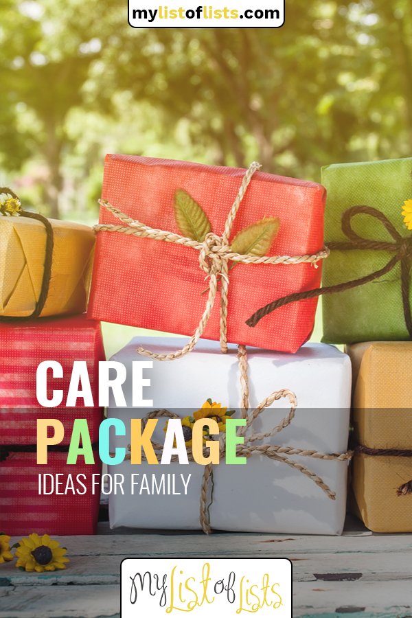 It's a blast to put together a care package for members of your family. Whether they are living out of state, or just down the road, everyone needs a little joy right now and these ideas are the best way to inspire that. #mylistoflistsblog #giftideas #carepackage