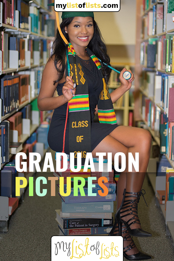 Graduation is a huge deal so make sure that you remember the day in the right way with these adorable ideas for college graduation pictures. Which one is your favorite? #graduationpictures #pictureideas #mylistoflistsblog