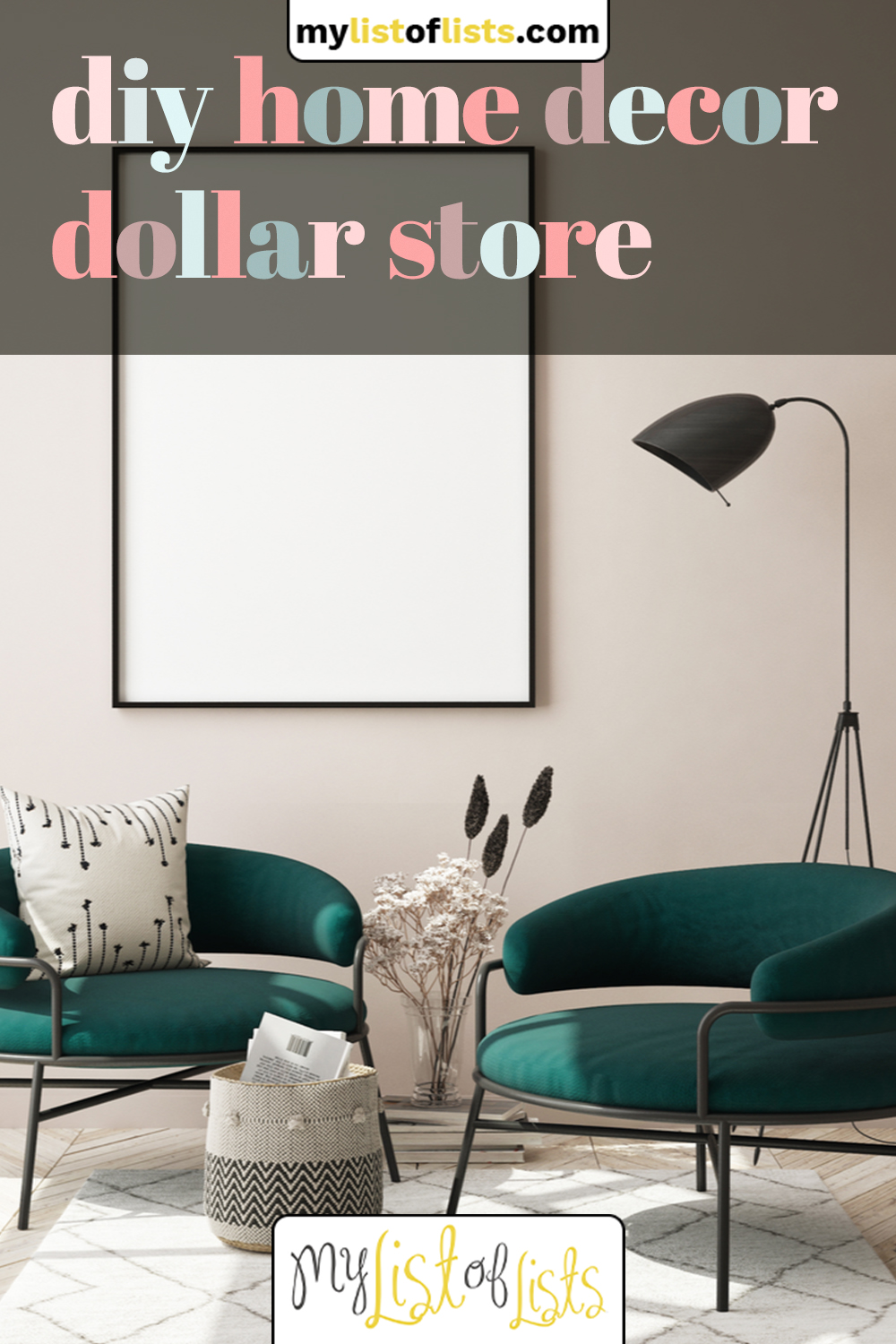 Make your home look absolutely amazing while spending no money at all with these awesome DIY home decor ideas from the Dollar Store. Whether you want wall art or something else, we can show you how. #diy #cheap #mylistoflistsblog