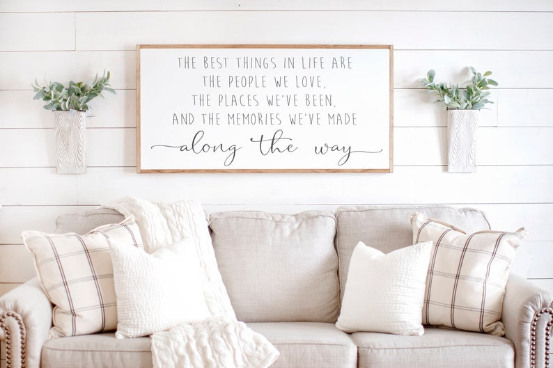 Shopping for farmhouse living room decor is one of my favorite things to do! Unfortunately, because the style is trendy it can get pretty expensive at big box stores. Fortunately, there's a solution. Take a look at this farmhouse living room decor on Etsy!