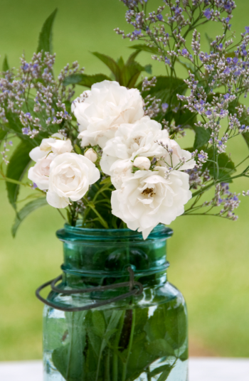To save money on your home decor, check out these home decor ideas from the dollar store. These mason jars can be the perfect centerpieces in your dining room!