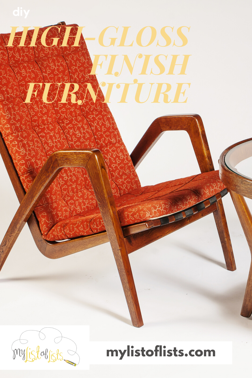 Looking for an easy DIY project that will make your furniture stand out? It's easy with out tutorial to give your furniture a high-gloss finish. Keep reading to learn more. #mylistoflistsblog #howtofinishfurniture #DIY #furniturefinish