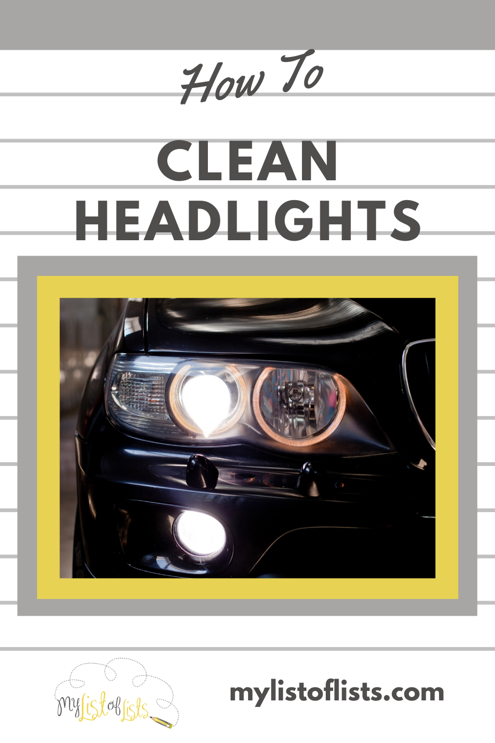 Car headlights take a beating. Between the weather and bugs, you know they can get dirty. But you don't need to worry about dirty headlights once you know these cleaning tips. They make cleaning a breeze and also keep your safe while driving at night. Read on to learn more. #Cleanheadlights #howtocleanheadlights #DIycleaningsolutionsforheadlights