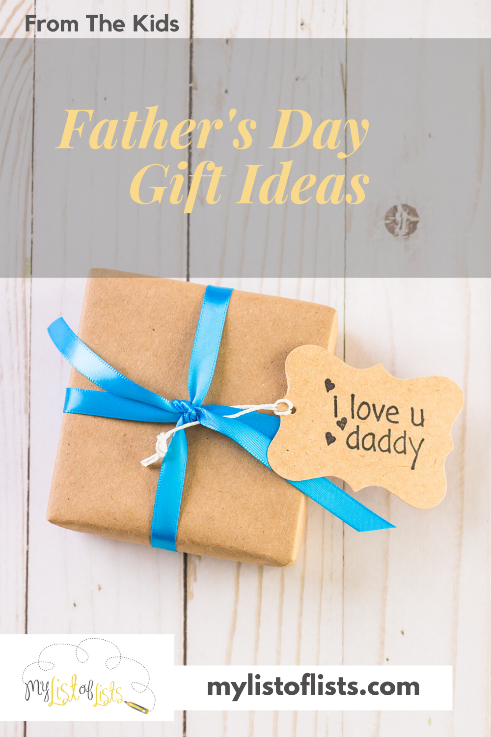 Most Dads love to receive handmade gifts from their kids. It's these things that become so nostalgic later on. Check out these incredible Fathers Day gift ideas from kids that they can make themselves in the comfort of your own home. #mylistoflistsblog #giftideas #diy