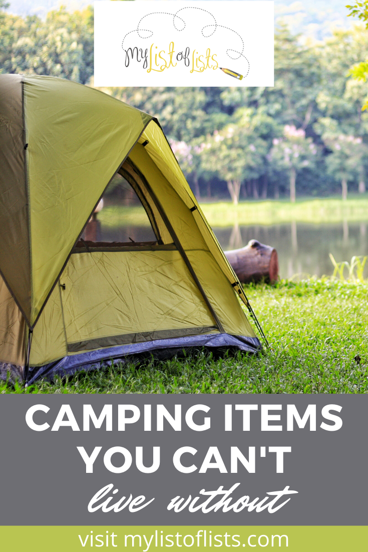 Mylistoflists.com has endless information to help you through any situation. Find ideas and inspiration for every aspect of your life. Check out this list of clever items you should have before you go camping.