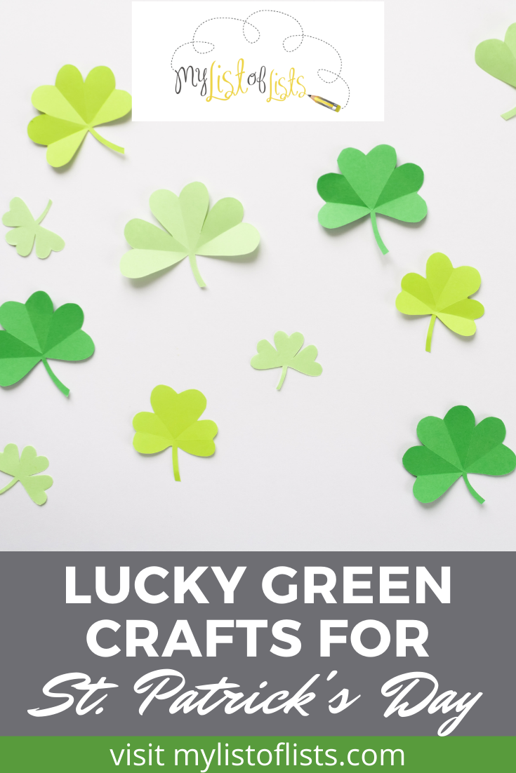 Mylistoflists.com is the best place to go for fun ideas for all occasions! Find loads of activities you can do to stay entertained. This St. Patrick's Day, keep your hands busy with these fun and festive St. Patrick's Day crafts you'll love!