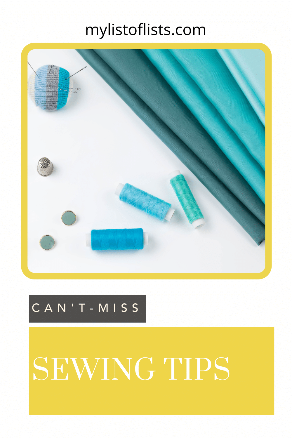 Mylistoflists.com has the best ideas to simplify your life. Find tons of tips and hacks to make everyday tasks a little bit easier. Check out these essential sewing hacks you need to know before starting on your next project!