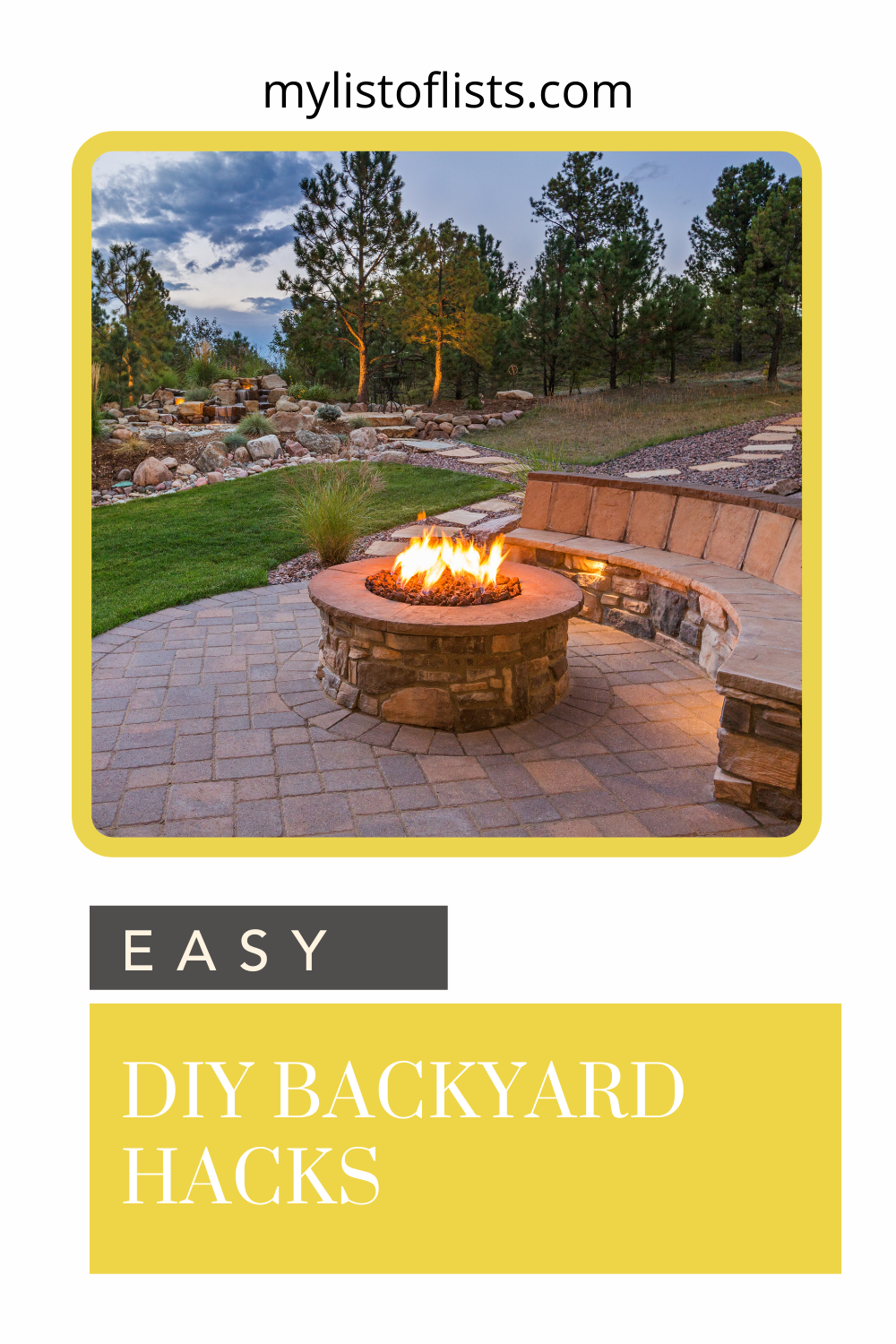 mylistoflsts.com is sharing awesome DIY backyard hacks to make your life and summer better. Try these hacks to make the most of your time outdoors with friends and family.