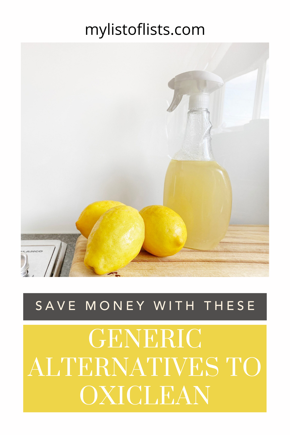 Mylistoflists.com has a little bit of everything. Find loads of ways you can make your life a little bit easier. Learn how you can save money on household cleaners with these generic alternatives to Oxiclean!