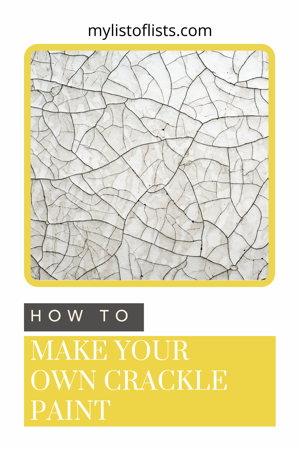 Mylistoflists.com has all you need to know about a whole range of topics! If you've been getting crafty, learn how to make new mediums! Find out how to make crackle paint using glue!