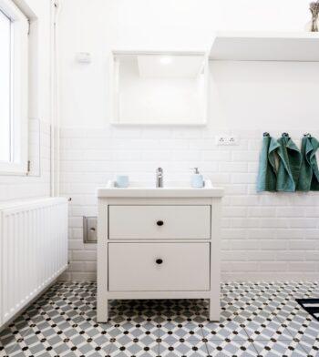 soft tones for a small bathroom